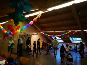 Foto festa nella Sala rossa